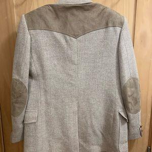 Pendleton vintage western blazer wool and leather